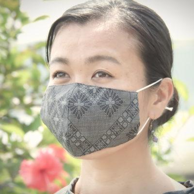 手作り大島紬マスク