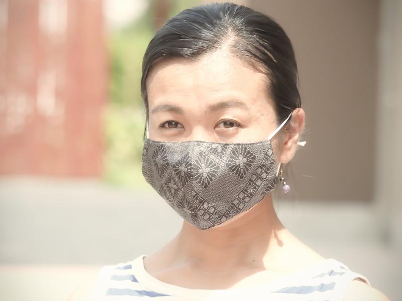 大島紬マスク